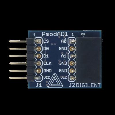 PmodAD1:12位双信道模拟数字转换器