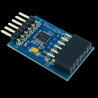 PmodDA4:8通道12位数字模拟输出