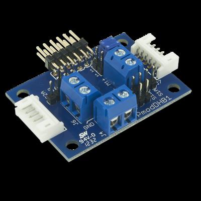 PmodDHB1:双直流电机或单步进电机驱动模块
