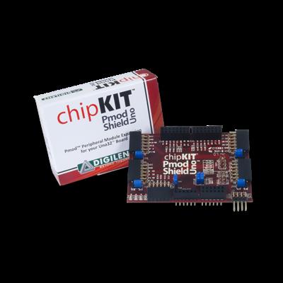chipKIT Pmod Shield:Uno R3标准转Pmod标准适配扩展板