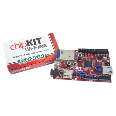chipKIT Wi-FIRE:支持WiFi通信的PIC32MZ开源微控制器