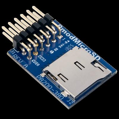 Pmod MicroSD: microSD 卡槽
